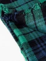Zielono-granatowy szalik damski w kratę                                  zdj.                                  9