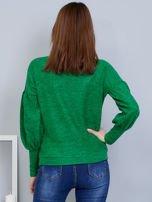 Zielony sweter z szerokimi rękawami                                  zdj.                                  2