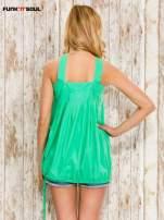 Zielony top damski na ramiączkach z guzikami                                                                          zdj.                                                                         4