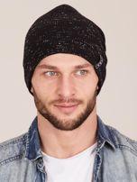 Zimowa czapka męska beanie czarna                                  zdj.                                  1