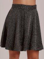 Złota rozkloszowana spódnica przeplatana metalizowaną nicią                                  zdj.                                  7