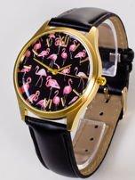 Złoty zegarek damski z tarcza z FLAMINGAMI                                   zdj.                                  2