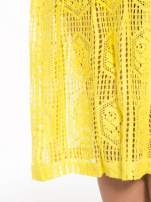 Żółta ażurowa spódnica midi