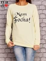 Żółta bluza z napisem MAM FOCHA                                  zdj.                                  1