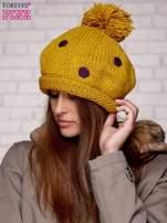 Żółta czapka w grochy                                  zdj.                                  3