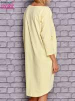 Żółta gładka sukienka oversize                                  zdj.                                  3