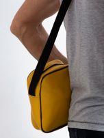 Żółta męska torba listonoszka                                  zdj.                                  2