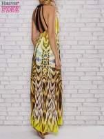 Żółta sukienka maxi z odkrytymi plecami                                                                          zdj.                                                                         4