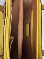 Żółta torba z klamrami i odpinanym paskiem                                   zdj.                                  4