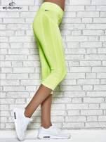 Żółte legginsy 3/4 sportowe termalne z lampasami                                                                          zdj.                                                                         2