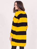 Żółto-czarny sweter w pasy                                  zdj.                                  2