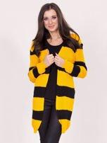 Żółto-czarny sweter w pasy                                  zdj.                                  1