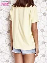 Żółty t-shirt oversize                                  zdj.                                  4