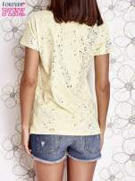 Żółty t-shirt z napisem BONJOUR                                                                          zdj.                                                                         4